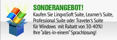 Kaufen Sie LingvoSoft Suite für Windows mit Rabatt von 30-40%